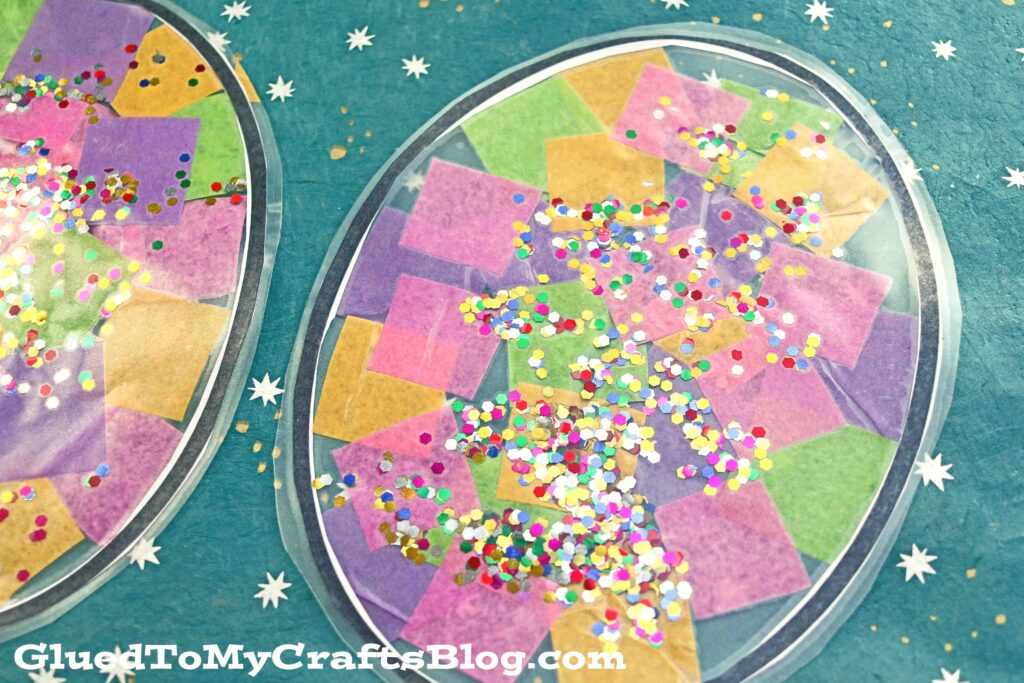Tissue Paper Stained Glass Eggs - Easter Kid Craft Idea