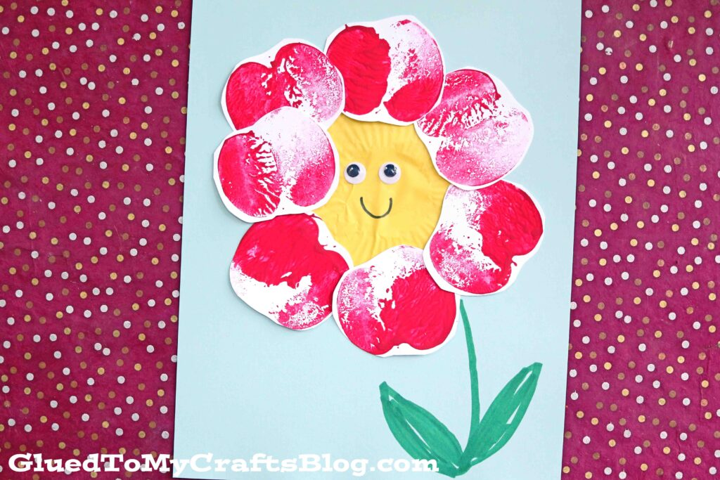 Apple Stamped Flower Craft For Kids To Make This Spring