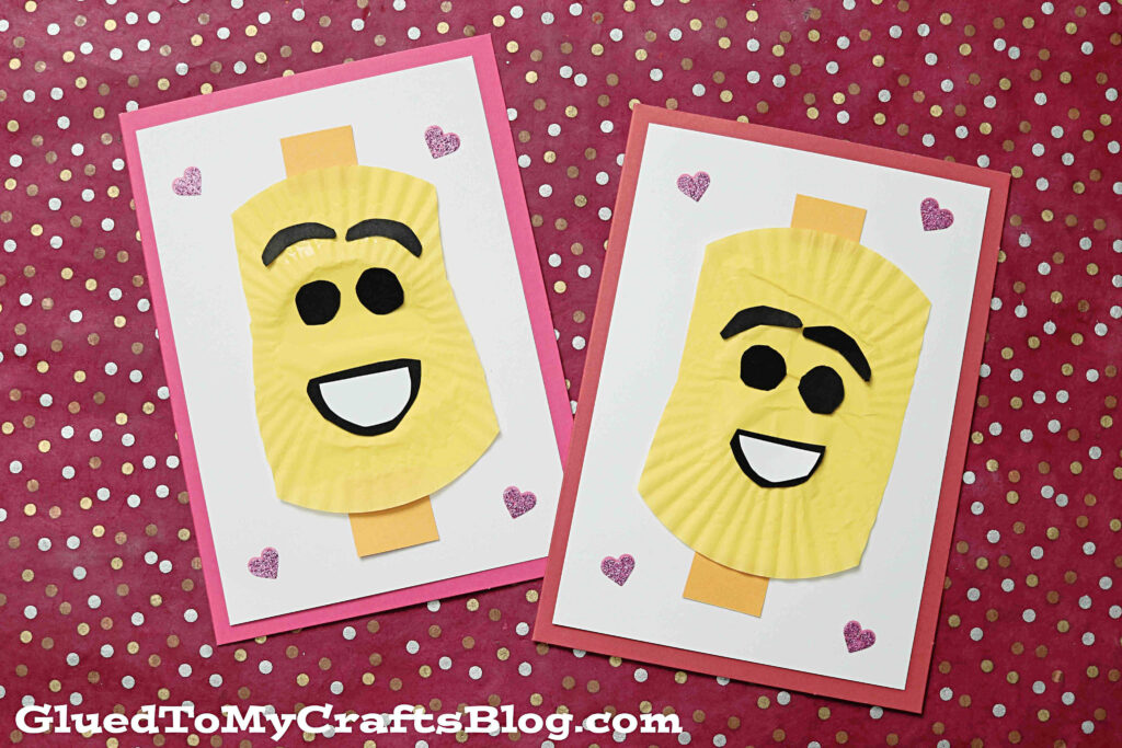 Cupcake Liner Lego Cards - Lego Movie Inspired Kid Craft