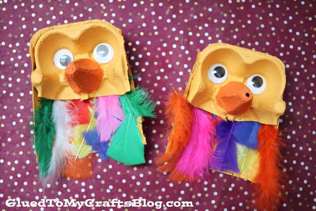 Upcycled Egg Carton Owls - Kid Craft Idea