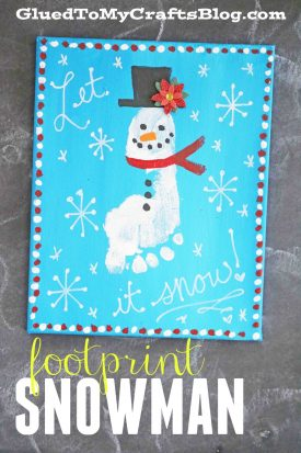 Footprint Snowman Canvas Keepsake
