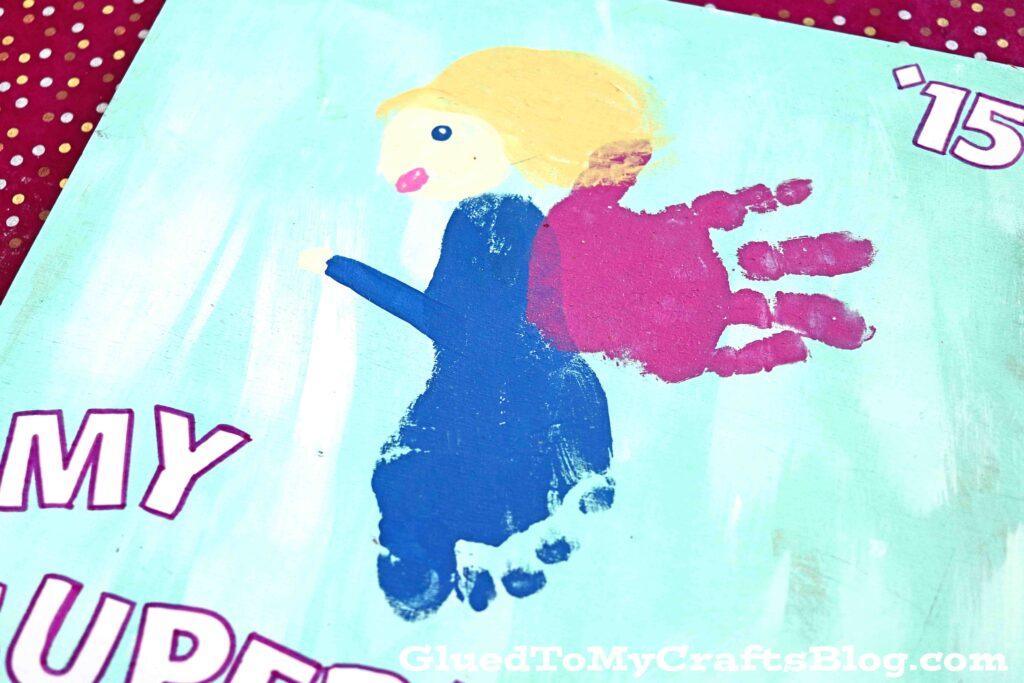 Mother's Day Footprint Superhero - Keepsake Gift Idea