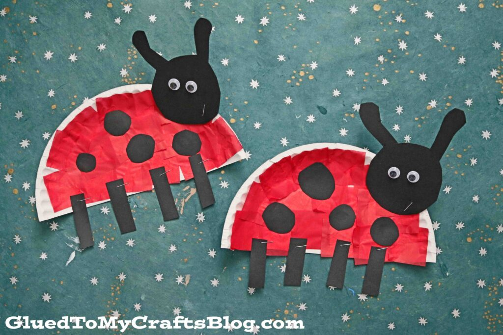 Paper Plate Ladybug - Kid Craft Idea For Spring