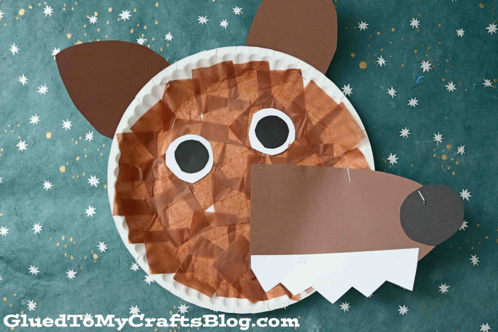 Paper Plate Wolf - Children's Book Inspired Kid Craft Idea