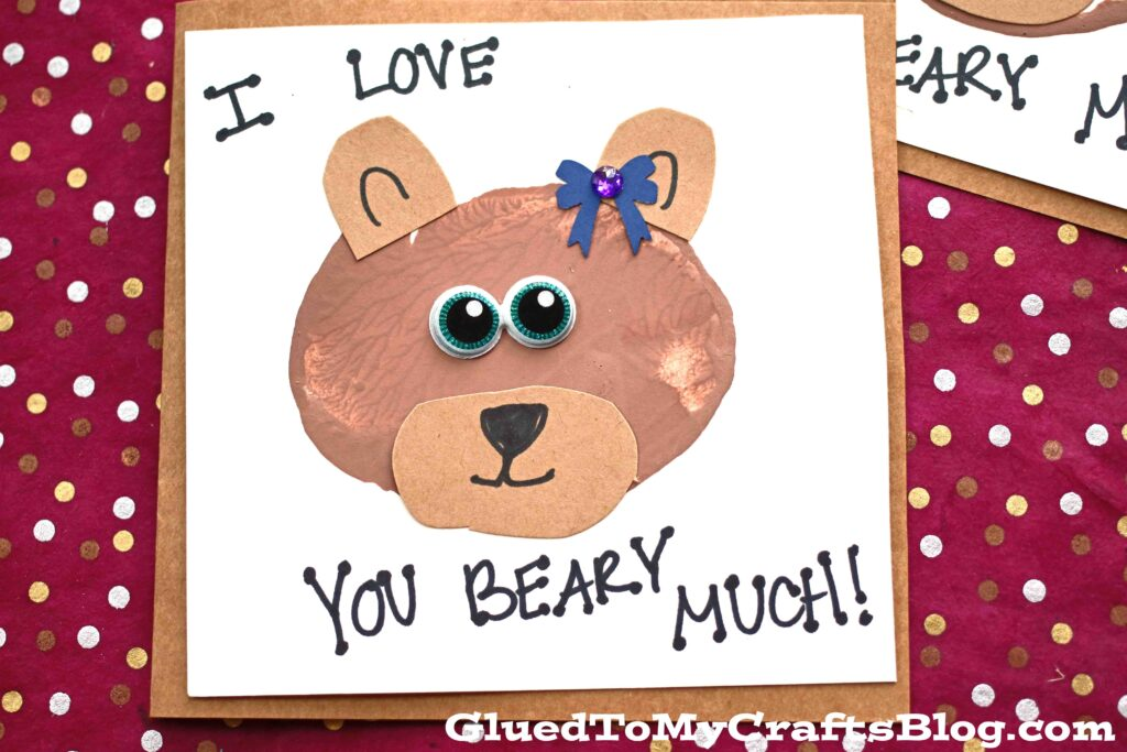 Potato Stamped Bear Cards {Kid Craft}