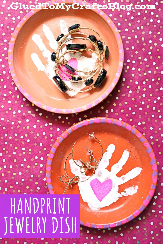 Terra Cotta Handprint Jewelry Plate - Mother's Day Gift Idea
