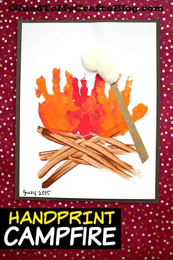 Handprint Campfire - Summer Kid Craft Idea