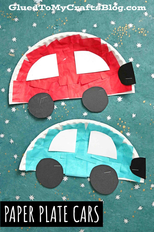 Paper Plate Cars - Kid Craft Idea
