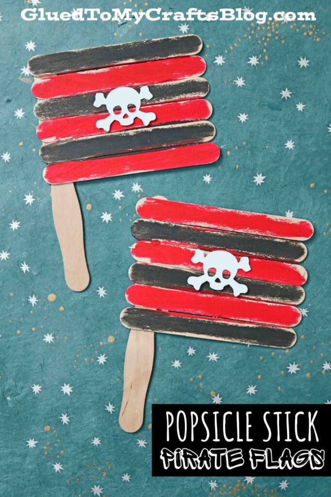 Popsicle Stick Pirate Flags - Summer Kid Craft Idea