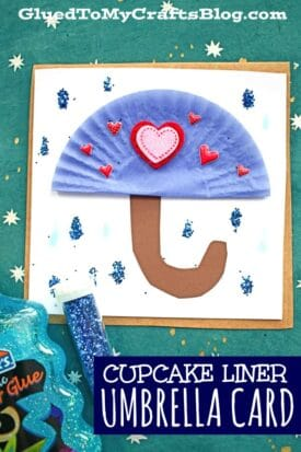 DIY Cupcake Liner Umbrella Cards - Kid Craft