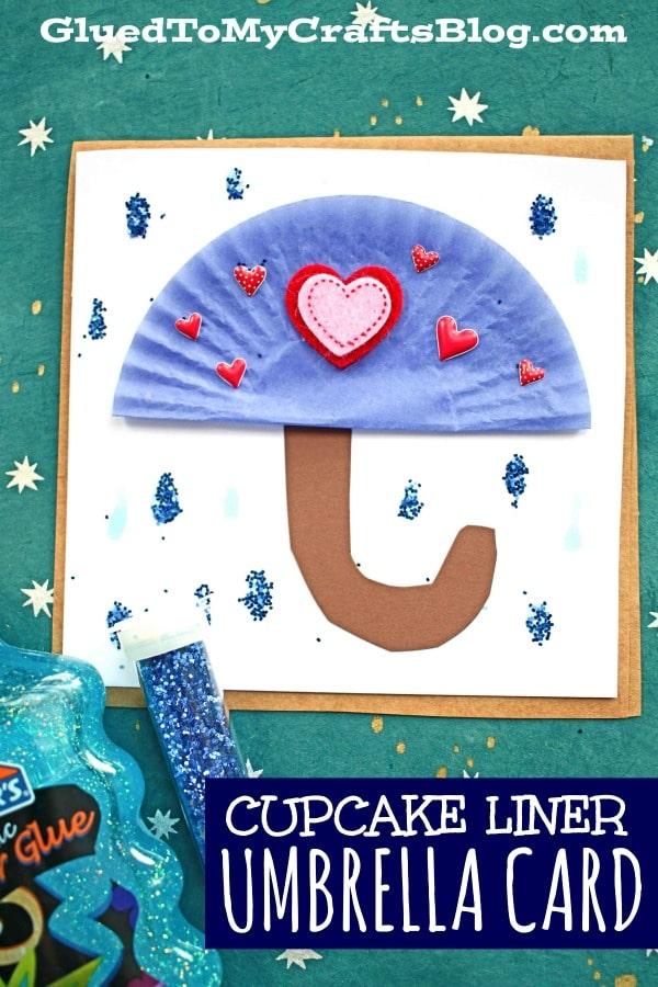 DIY Cupcake Liner Umbrella Cards - Kid Craft