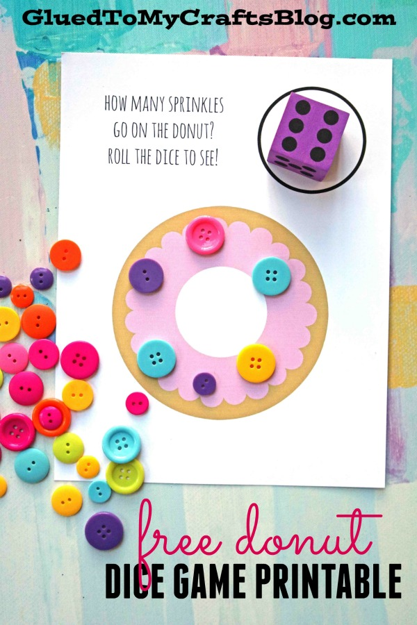 Donut Sprinkle Learning Game - Free Printable