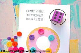 Donut Sprinkle Game - Free Printable