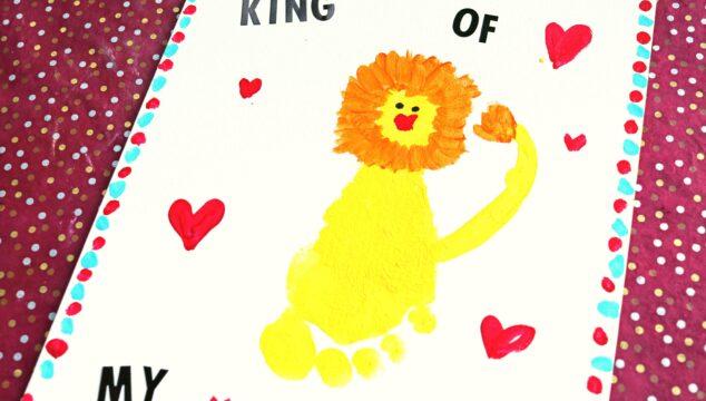 King of My Heart - Lion Footprint Keepsake