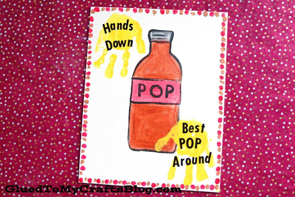 """Best Pop"" Handprint Keepsake Canvas For Father's Day"