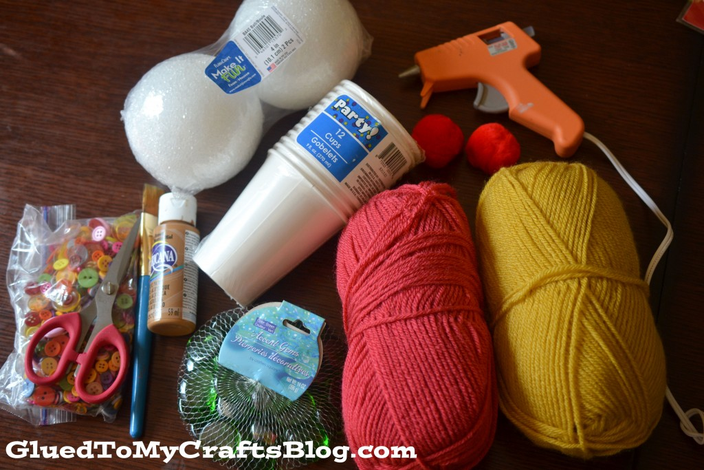 All our supplies for this ice cream kid craft tutorial