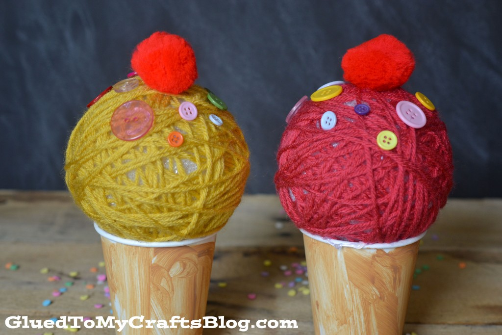 Foam Ball Ice Cream Cones {Kid Craft}