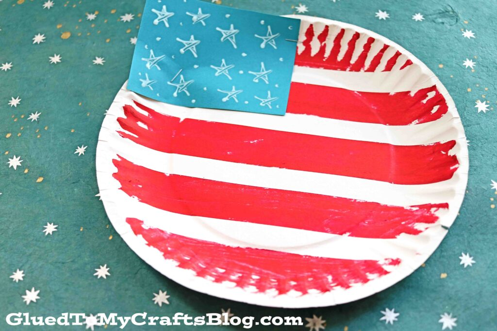 Paper Plate Flag - Patriotic Kid Craft Idea
