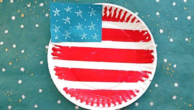 Paper Plate Flag - Patriotic Kid Craft Idea