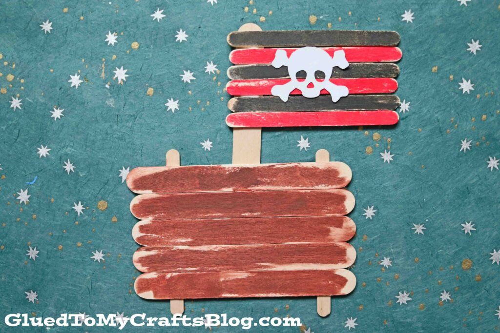 Popsicle Stick Pirate Ship - Kid Craft Idea For Summer
