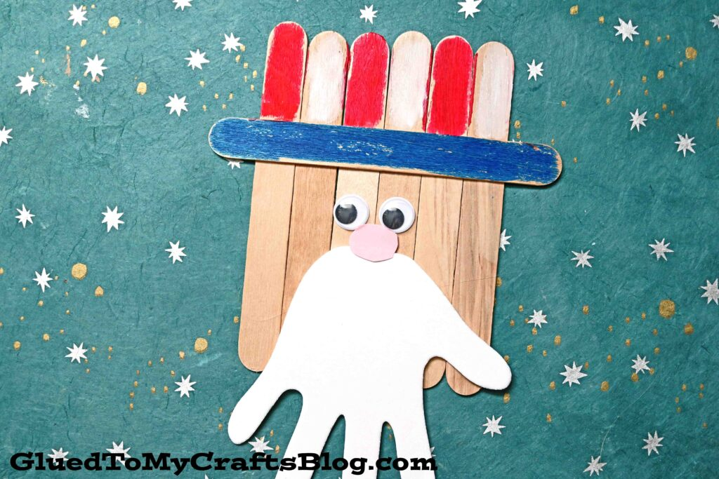 Popsicle Stick Uncle Sam - Kid Craft Idea For 4th of July
