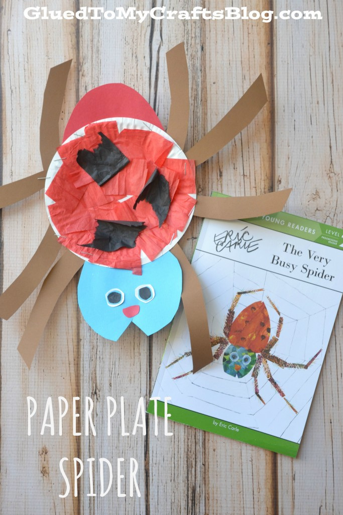 Eric Carle Paper Plate Spider - Kid Craft