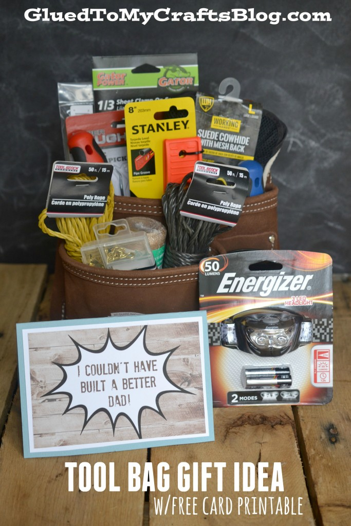 Father's Day Tool Bag Gift Idea + Free Gift Tag Printable