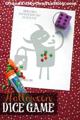 Halloween Dice Game Printable