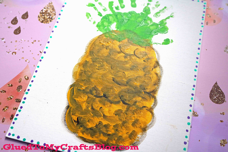 Handprint Pineapple Keepsake Canvas