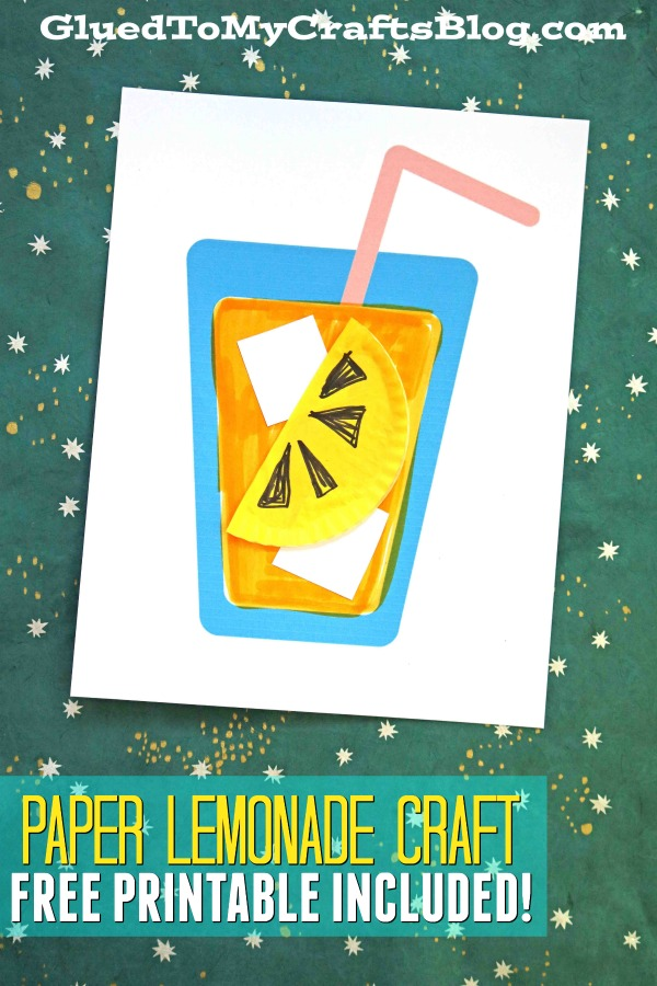 Paper & Cupcake Liner Lemonade Craft For Kids