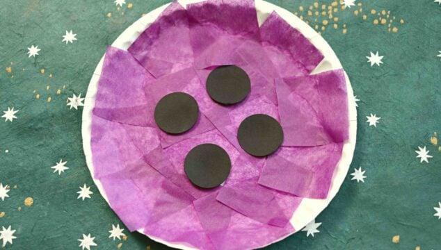 Tissue Paper & Paper Plate Button - Kid Craft