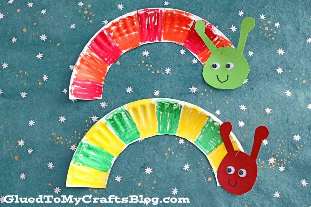 Paper Plate Caterpillar - Eric Carle Inspired Kid Craft Idea