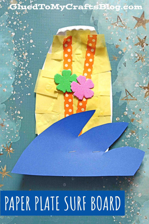 Paper Plate Surf Board - Kid Craft