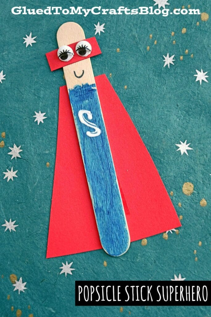 Popsicle Stick Superheroes - Puppet Kid Craft Idea