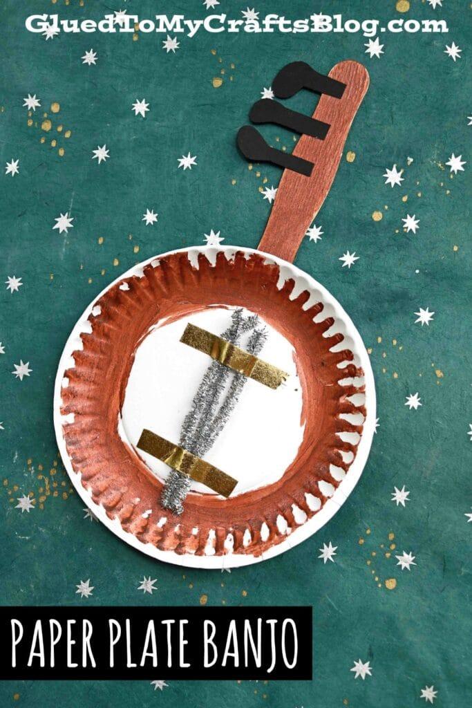 Paper Plate Banjo - Pretend Instrument & Kid Craft Idea