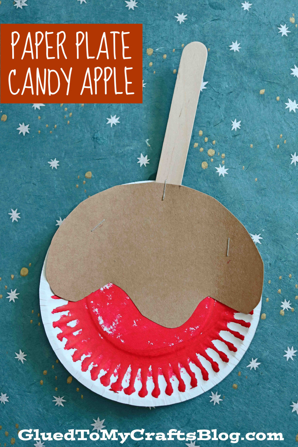 Paper Plate Candy Apples - Kid Craft Idea For Fall