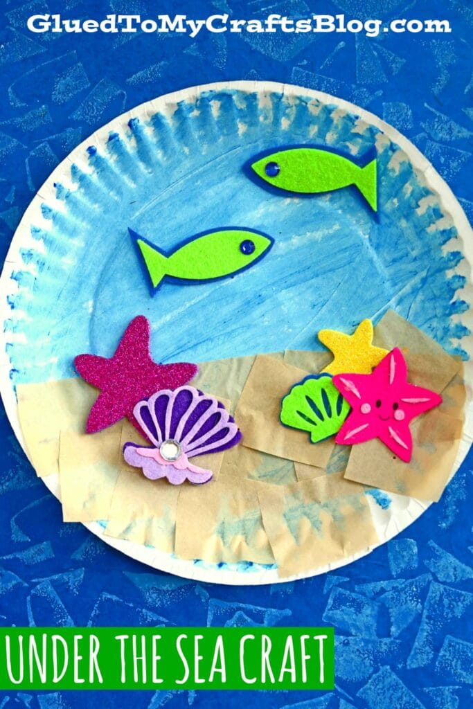 Paper Plate Under The Sea - Kid Craft Idea For Summer