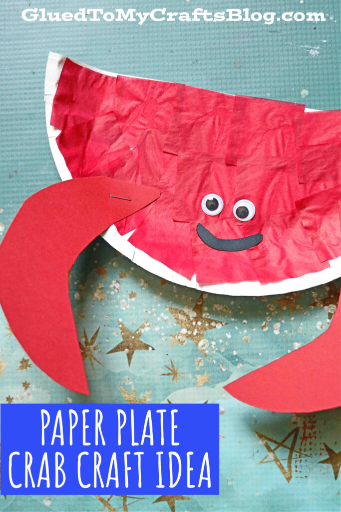 Paper Plate Crab - Beach Themed Kid Craft Idea