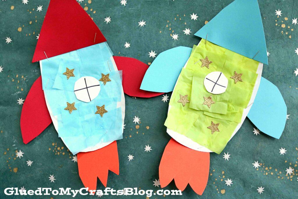 Paper Plate Rocket - Super Fun Outer Space Kid Craft Idea