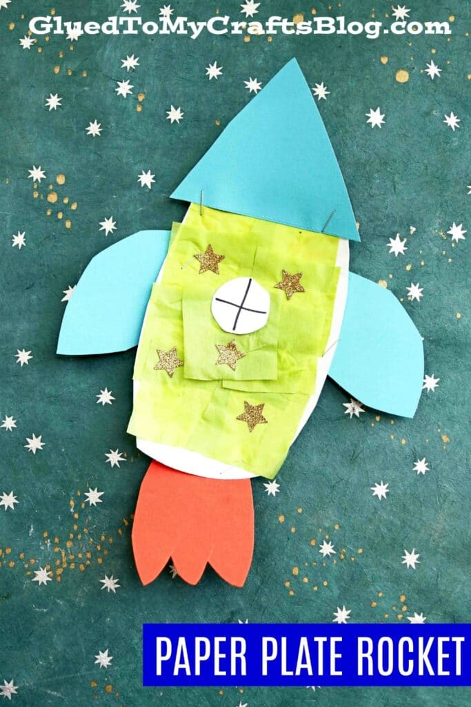 Paper Plate Rocket - Super Fun Outer Space Kid Craft Idea