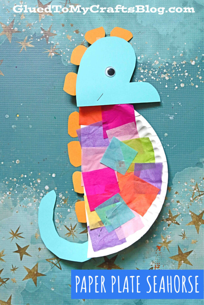Paper Plate Seahorse - Kid Craft Idea For An Eric Carle Book