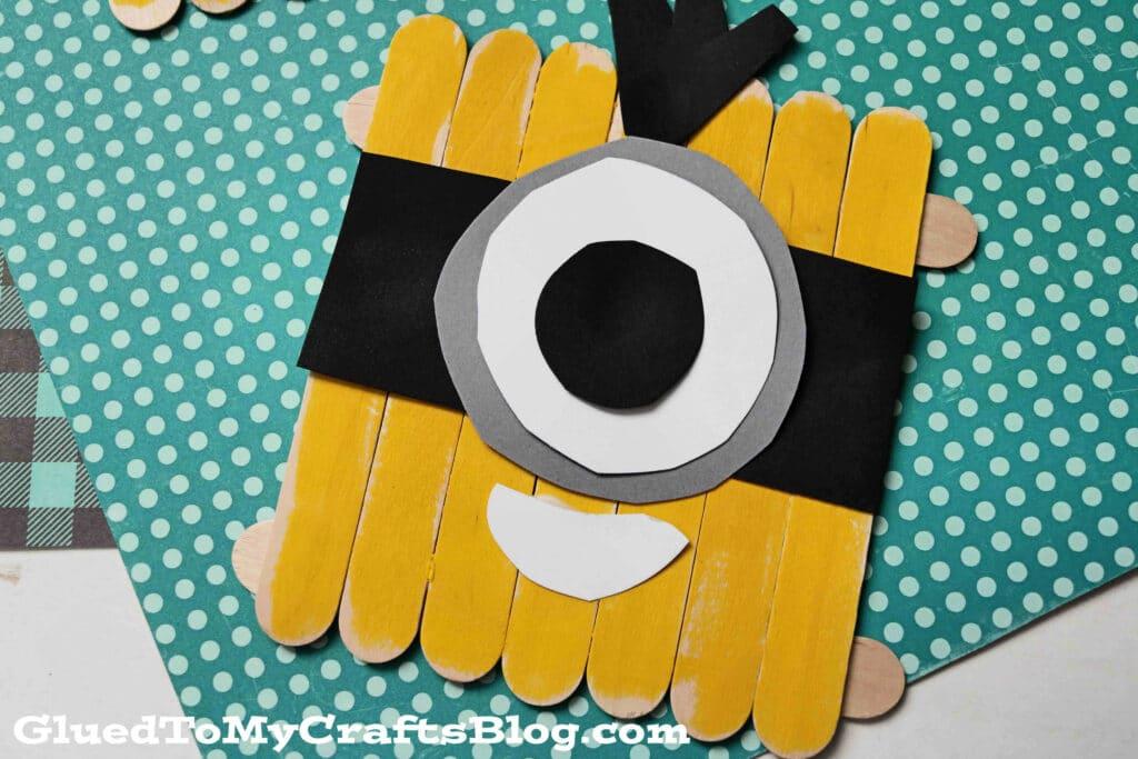 Popsicle Stick Minions - Kid Craft Idea