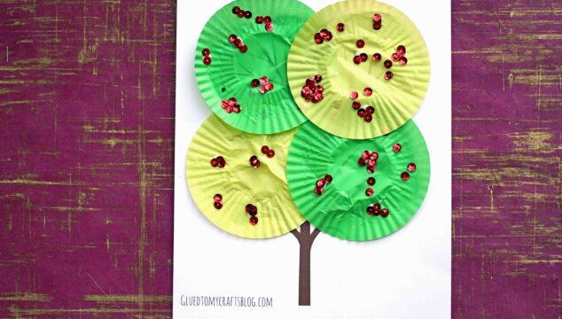 Cupcake Liner Apple Tree - Kid Craft