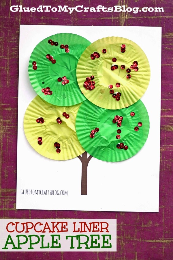 Cupcake Liner Apple Tree - Kid Craft