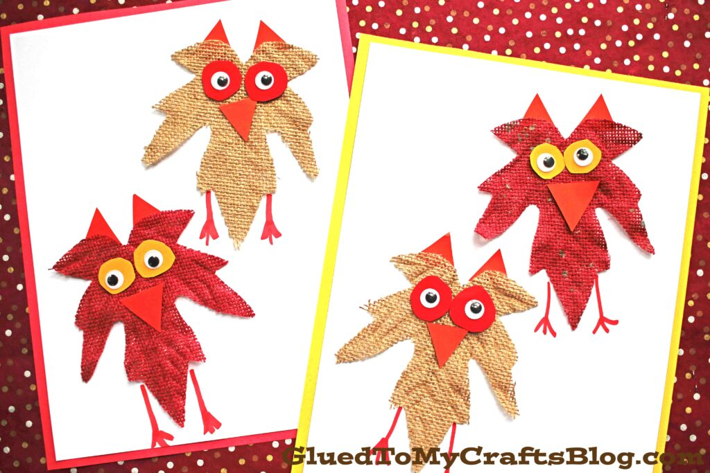 Burlap Leaf Owls - Fall Kid Craft