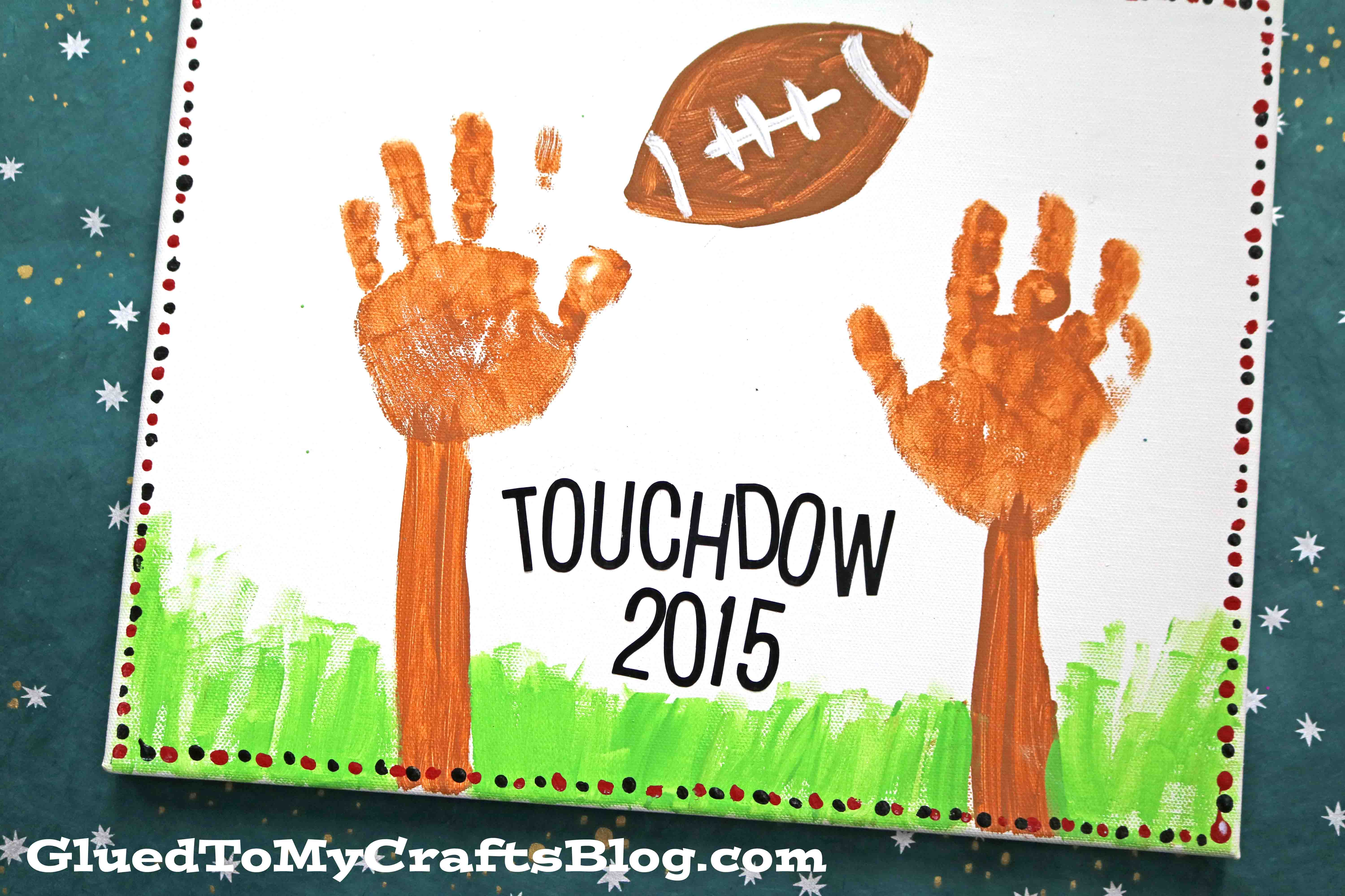 Handprint Football Goal Keepsake