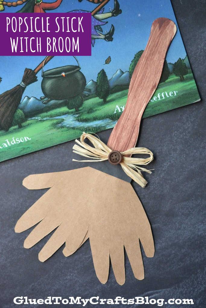 Popsicle Stick Broom - Kid Craft Idea For Room On The Broom Book