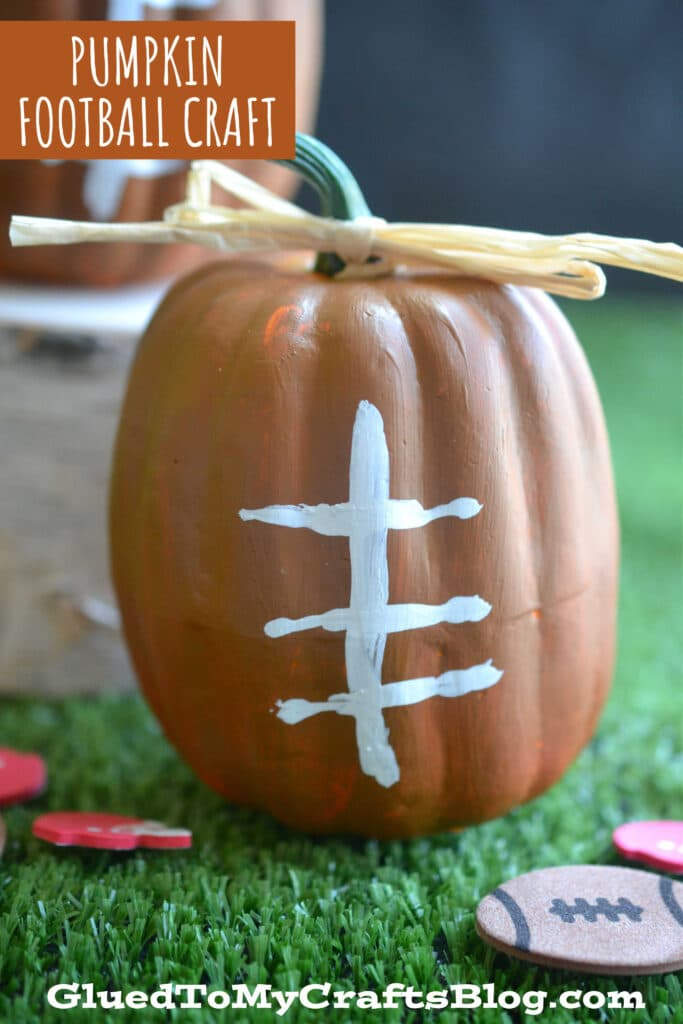 Mini Pumpkin Footballs - Craft Idea Made With Supplies From Dollar Tree
