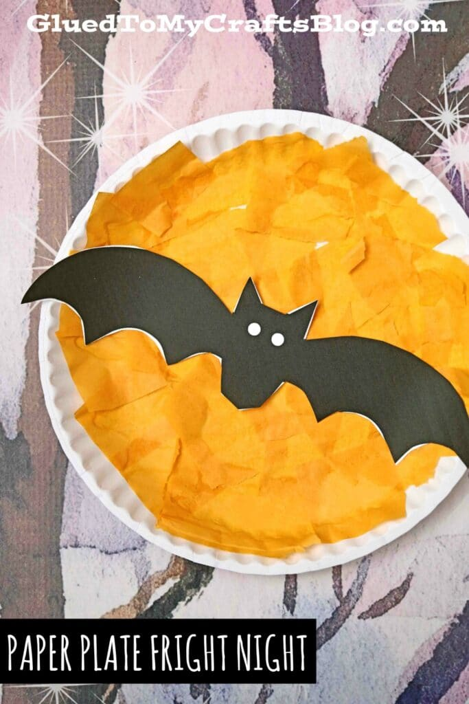 Paper Plate Fright Night - Halloween Kid Craft