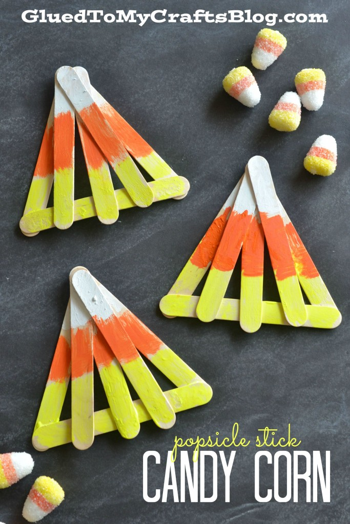 Popsicle Stick Candy Corn - Kid Craft